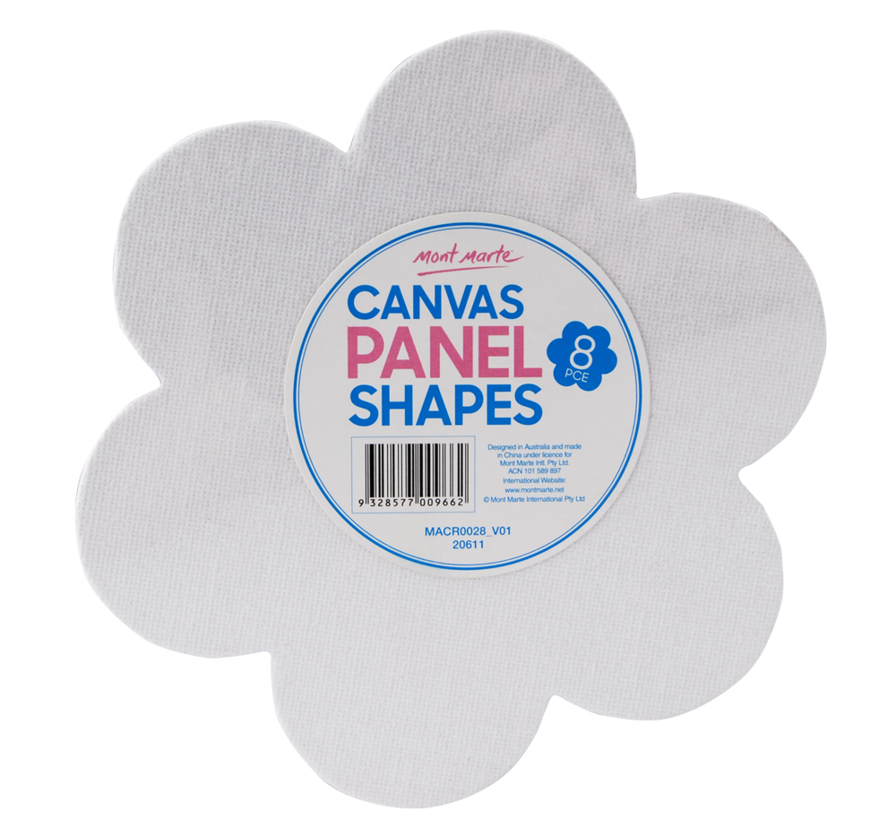 Mont Marte Canvas Panel Shapes Flower 5pcs