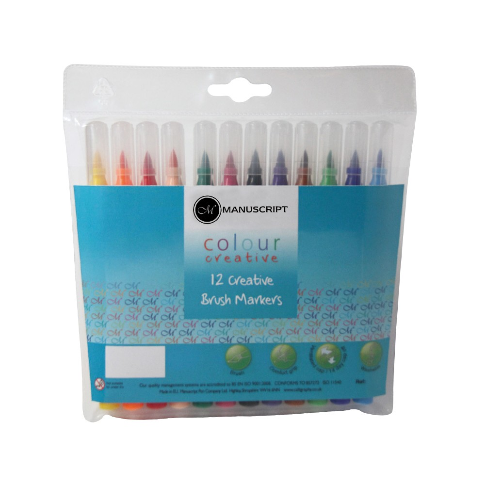 Colour Creative Brush Markers 12 Set