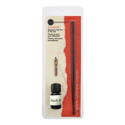 Dip Pen Holder Nib & Black Ink