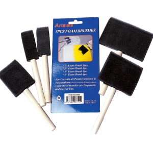 Foam Brush Clamshell 5pc Set