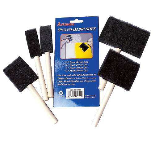 Foam Brush Clamshell 5pc Set Jimnettes Superstore