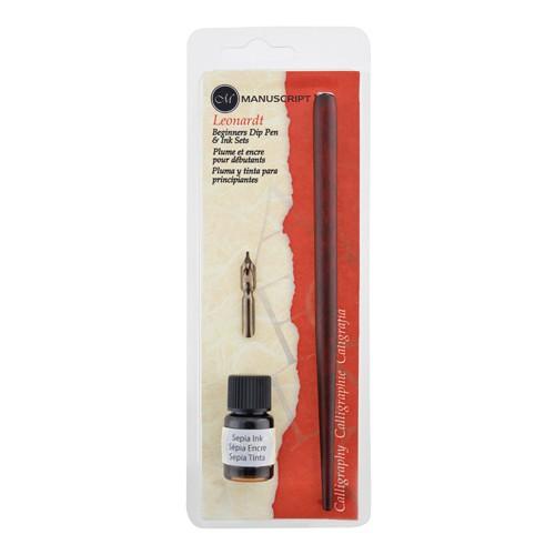 Dip Pen Holder Nib & Sepia Ink
